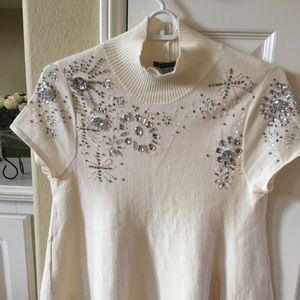 Crystal Sequins ivory top